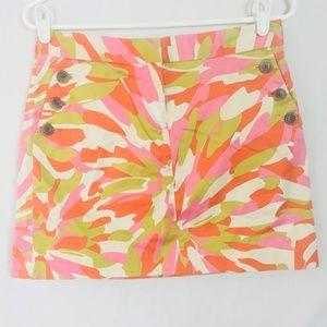 J. Crew Womens Size 4 Mini Skirt Splash Print